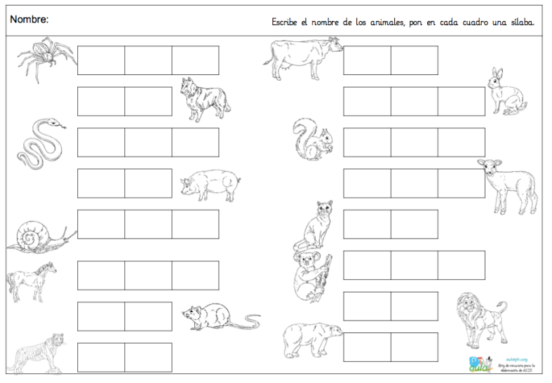 sílabas-animales